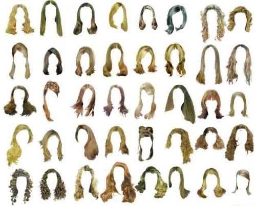 Зачіски на довге волосся для фотошоп